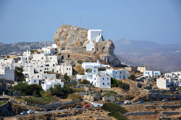 A picture showing a part of the Chora of Amorgos.