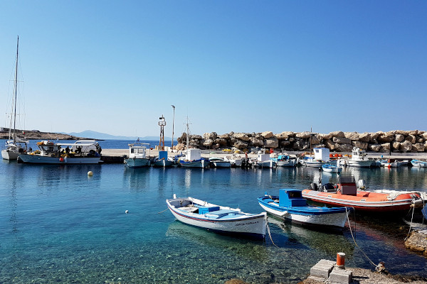 The small port of Stavros settlement on the island of Donousa.