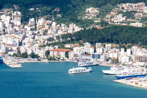 An overview of a part of the port of Igoumenitsa.