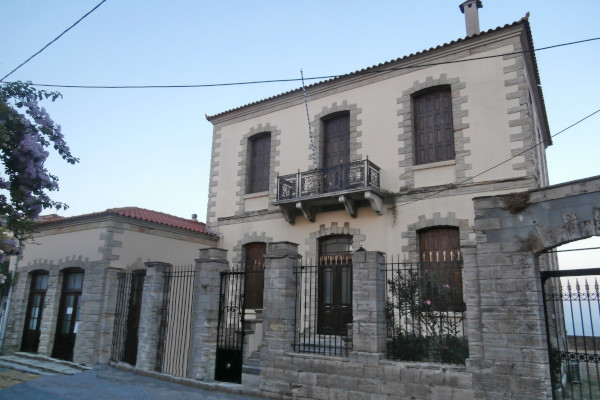 An impressive mansion that served as the Town Hall of Kymi.