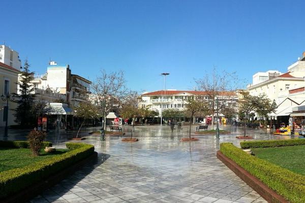 A photo taken at the memorial park of Pyrgos, Elis.