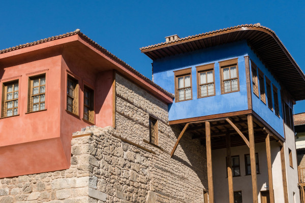 A house in the city of Veria renovated following the traditional Macedonian architecture.