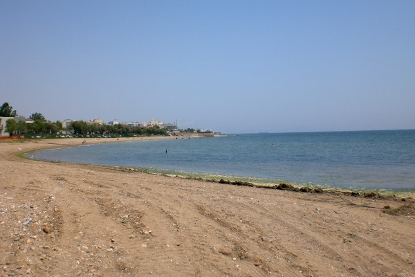 A photo of the ΕΟΤ beach at the city of Alexandroupolis.