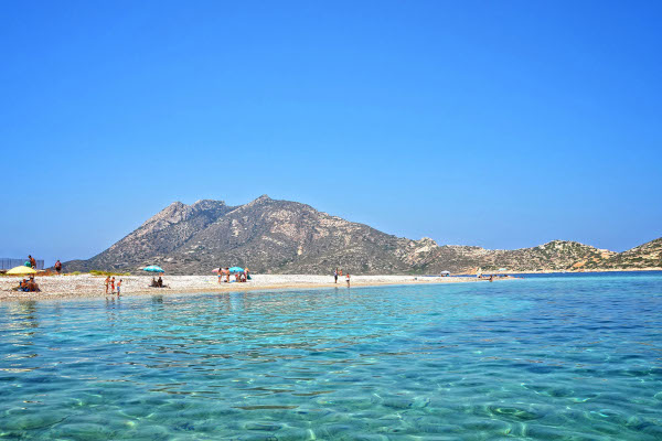 A picture showing the Agios Pavlos beach on the island of Amorgos.
