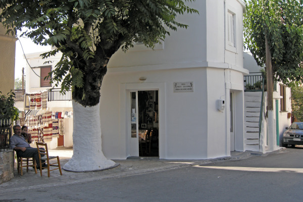 The house of the famous Greek singer Nikos Ksilouris in the village of Anogia on the island of Crete.