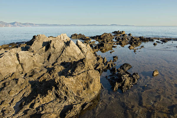 These coastal rocks were Markella's last hiding resort and the place where her father killed her.