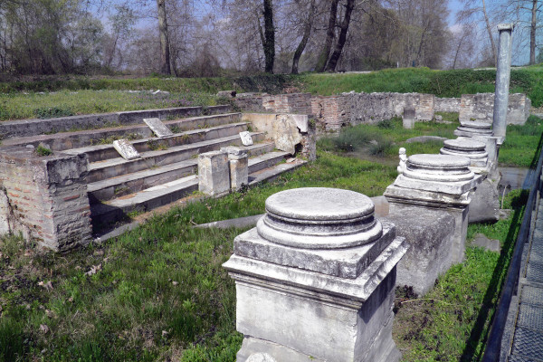 Remains of the Isis Temple at the archaeological site of Dion.