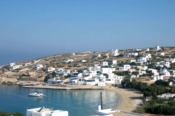A picture showing a part of the settlement of Stavros on Donousa island.