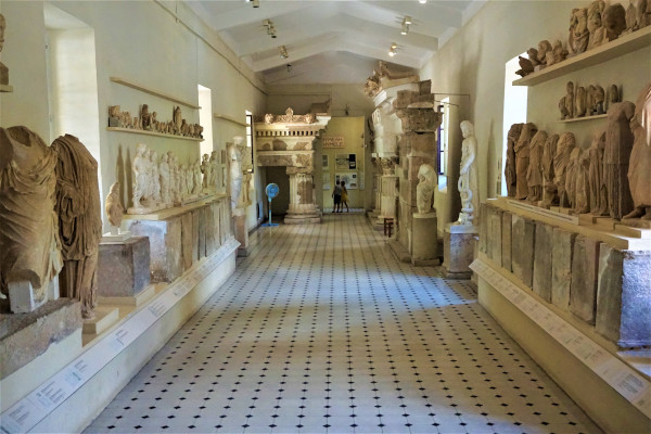 A picture from one of the rooms inside the Archaeological Museum of the Asklepeion at Epidaurus.
