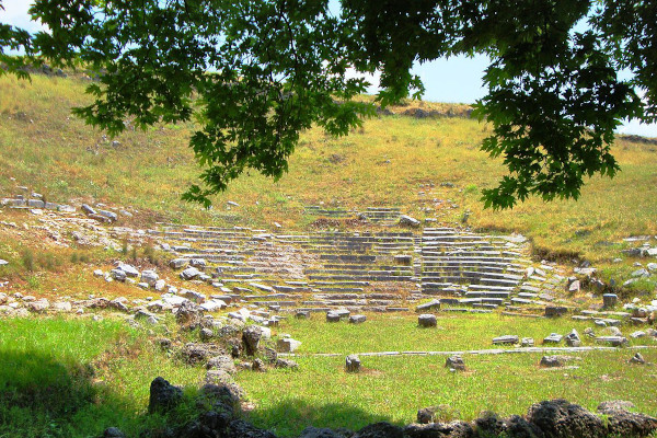 Remains of the ancient theater of the ancient city of Gitana close to Igoumenitsa.