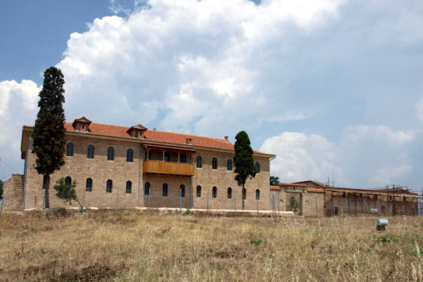 The a picture of the building that houses the Byzantine Culture Center «Justin».