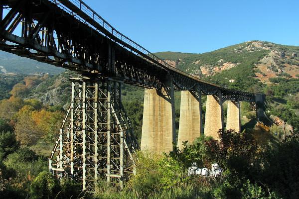 A photo of the Bridge of Gorgopotamos.