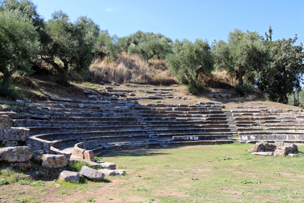 A picture showing the remains of the Ancient Theater of Gytheio.