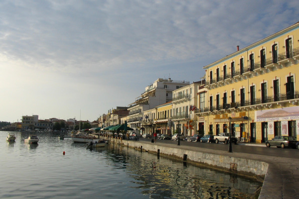 A picture of the Seafront Promenade & Port of Gytheio.