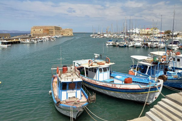 The Old Venetian Port of Heraklion.