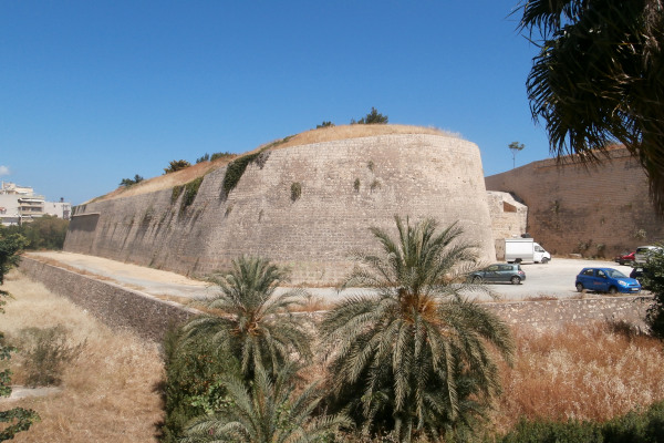 A part of the fortification of the Venetian Walls of Heraklion in Crete.