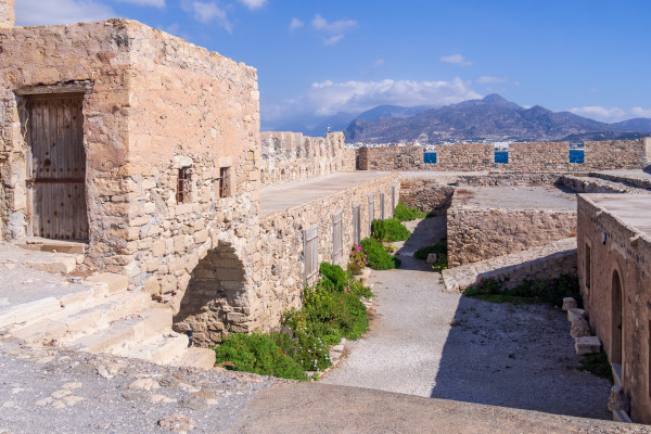 A photo of the interior of the Venetian Fortress «Kales» of Ierapetra.
