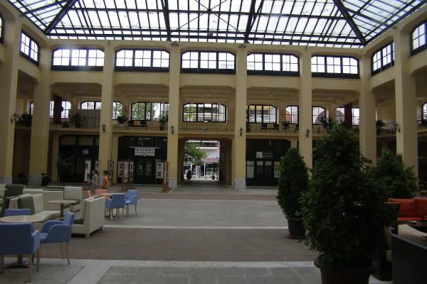The interior of the  covered Municipal Market of Karditsa.