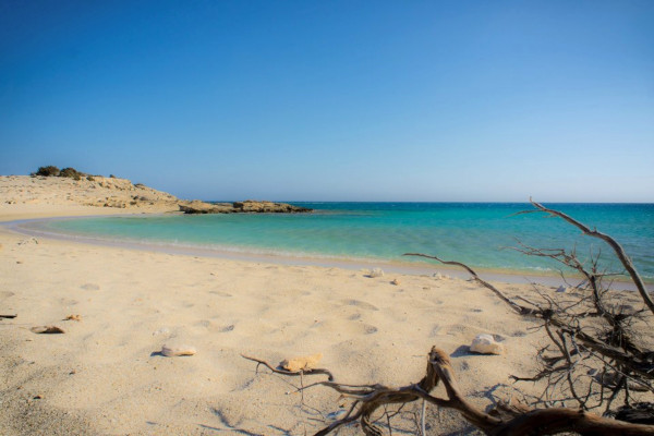 A picture of the beach of Diakoftis on Karpathos island.
