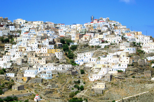 An overview of the village of Olympos in Karpathos island.