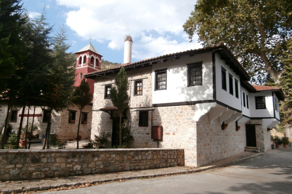 A building of the Monastery of Virgin Mary Mauriotissa in Kastoria.