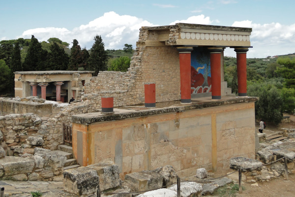 A part of the remains that depict to the structure and architecture of the Minoan Palace in Knossos.