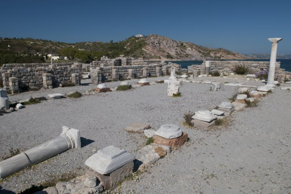 The remains of the Basilica of Agios Stefanos at Kefalos on the island of Kos.