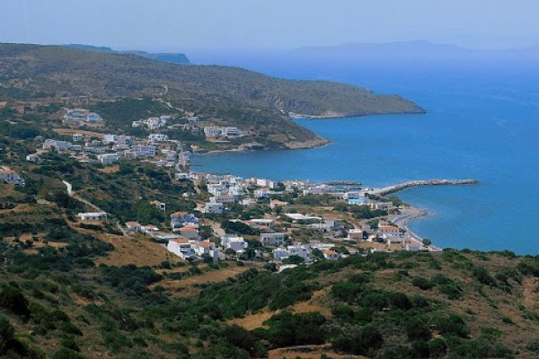 An overview of the village of Agia Pelagia on Kythira island.