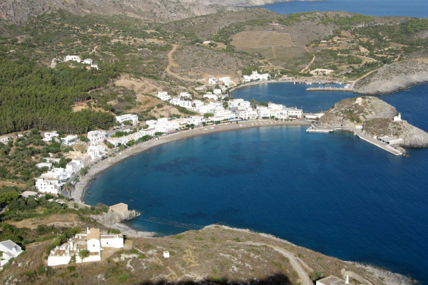 An overview of the Kapsali village the official Port of Kythira.