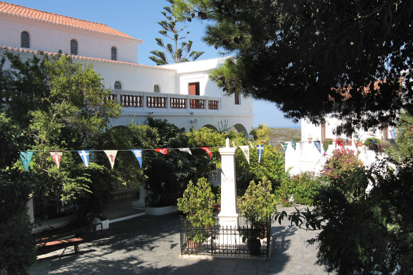 A picture from the inner yard of Mirtidia Monastery on the island of Kythira.