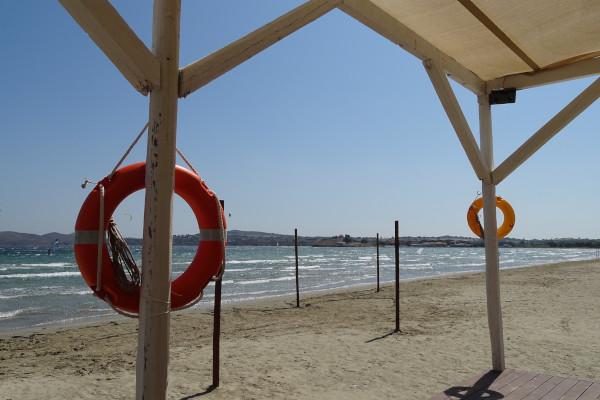 A photo showing a part of Kotsinas beach on the island of Lemnos.