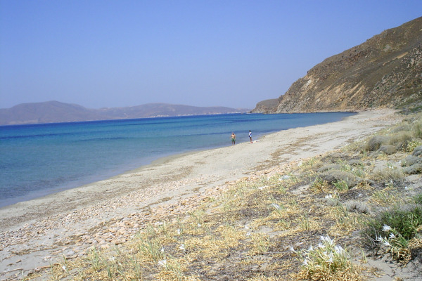 A picture showing a part of the Parthenomitos beach of Lemnos.