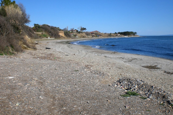 A photo depicting the beach of Agios Georgios of Makri of Alexandroupoli.