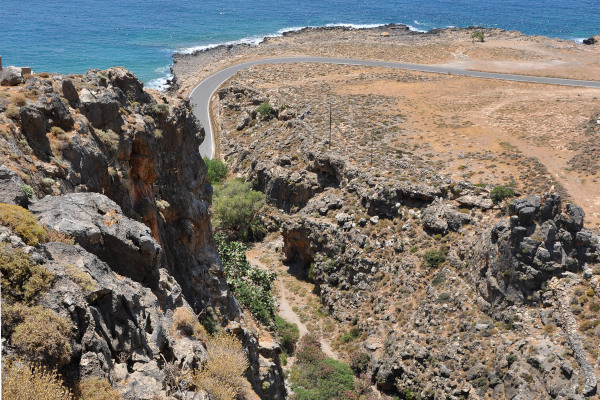 Picture taken at the area of Kapsa Monastery that depicts the Perivolakia gorge.