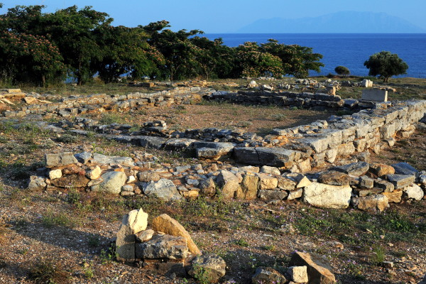 The remains of Apollo temple at the Archaeological Site of Mesimvria - Zone.