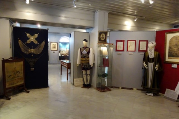 A photo of one of the rooms of the DIEXODOS Cultural Center of Mesolongi.