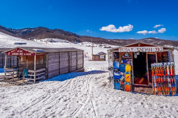 Ski learning facilities at Profitis Ilias Ski Center in Metsovo.