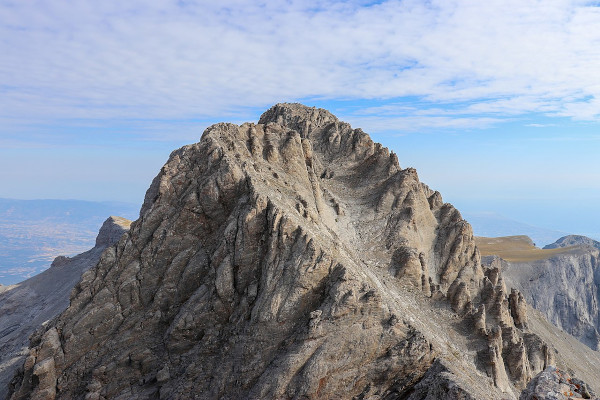 A picture of the famous peak of Mount Olympus, Mytikas.
