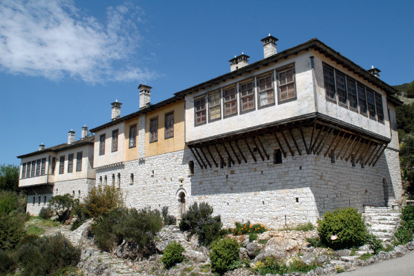A picture of the building that hosts the Wax Museum of Greek History (by Paul Vrellis) of Ioannina.