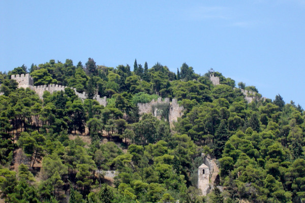 A part of the castle of Nafpaktos at the acropolis of the city.