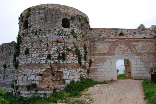 A bastion and one of the gates at the fortification of the ancient city of Nikopolis.