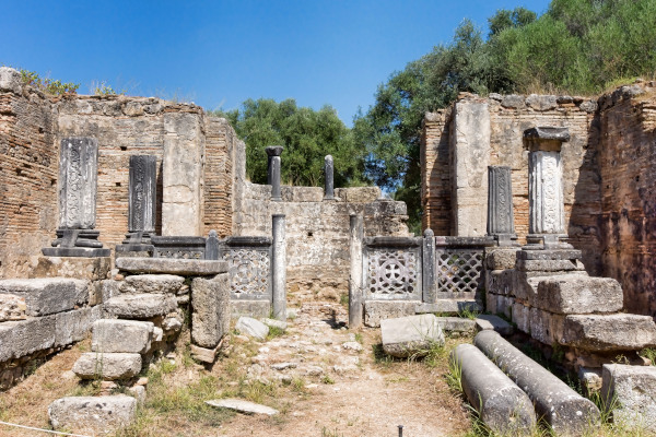 The remains of the Workshop of Phidias in Olympia.