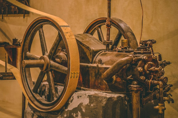 A part of the old mechanical equipment of the Paragaea - Old Olive Oil Factory of Parga.