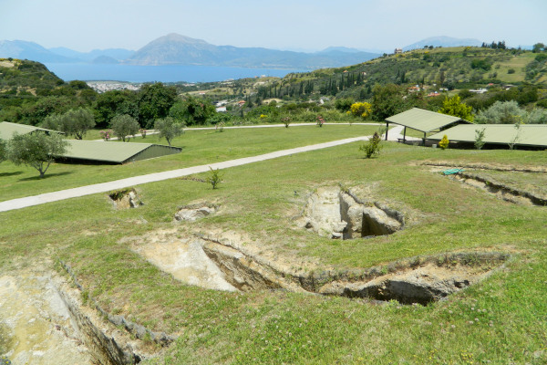 Remains of the Mycenaean Cemetery at the archaeological site of Voudeni of Liapeika Patras.