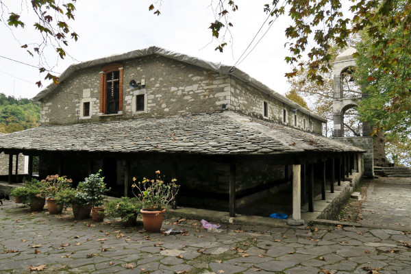 An image showing the exterior of the Agia Marina Church in Kissos, Pelion.