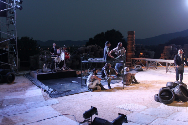 A contemporary ancient drama performance during the summer Philippi Festival.