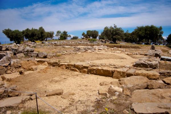 The remains of the Sanctuary of Poseidon on Poros.