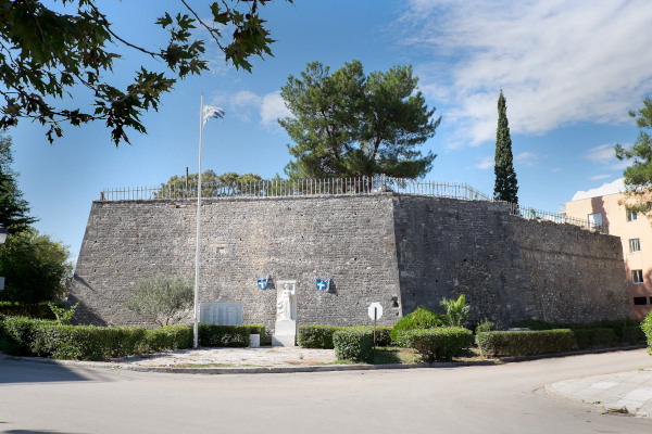 A picture showing the southeast walls of the Fort of St. Andrew of Preveza.