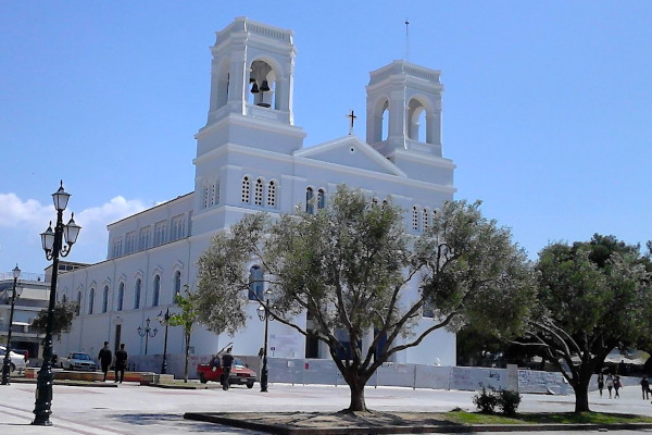 A picture that shows the impressive exterior of the Church of St. Nikolaos of Pyrgos, Elis.