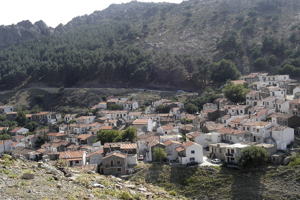 A general view of the central and main settlement of Samothraki's Chora.